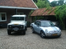 Land Rover Defender TD5 en Mini Cooper